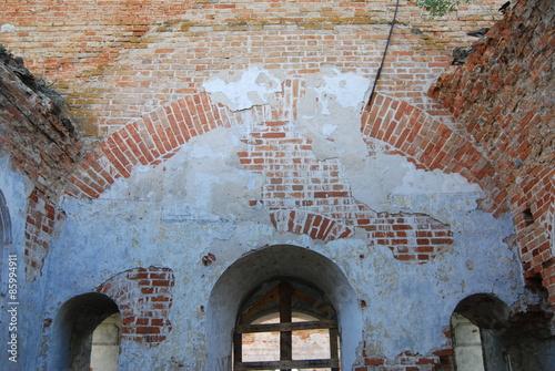 Foto op Aluminium Rudnes руины,церковь