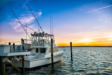 Fishing Boat On The Pier At Su...