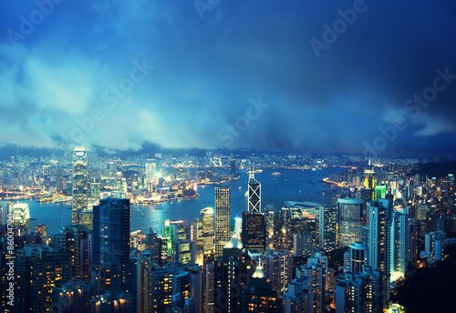 Photo  Hong Kong island from Victoria's Peak
