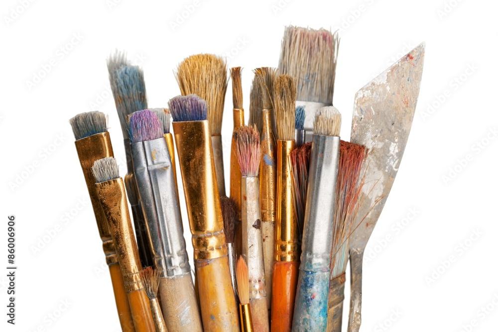 Fototapety, obrazy: Paintbrush, Paint, Creativity.