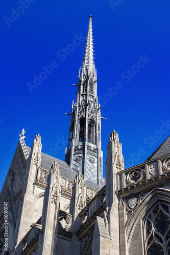 Photo  Heinz Chapel Steeple - Gothic Architecture of Pittsburghs Historic and Grandiose