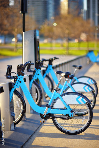Staande foto Fiets City bikes for rent