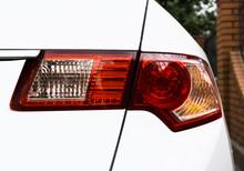 Back Light Taillight Of White Sport Modern Car