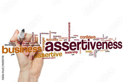 Assertiveness word cloud Canvas Print