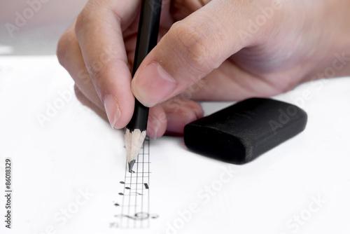 Cuadros en Lienzo Write musical notes