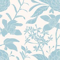 Tapeta Seamless floral pattern