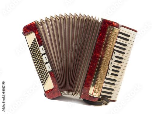 Fotografía  Schönes altes akkordeon, schifferklavier, Ziehharmonika