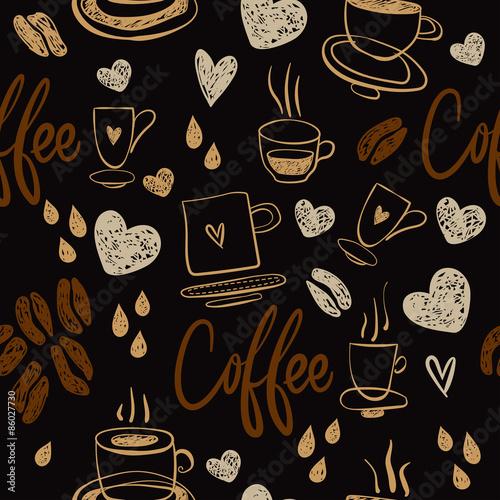 Tapety do kuchni kawowy-bezszwowy-wzor