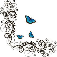Fototapeta Motyle Beautiful floral ornament