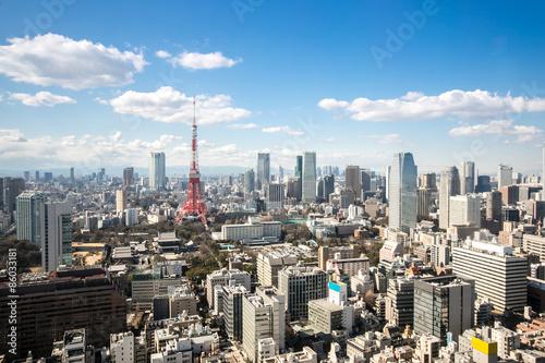Keuken foto achterwand Seoel Tokyo Tower cityscape Japan