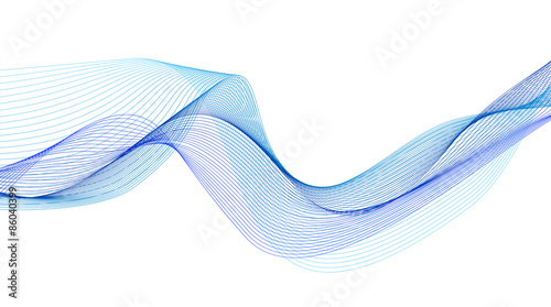 Fotobehang Abstract wave abstract flowing water wave vector background design element
