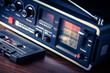 musicassetta con radio