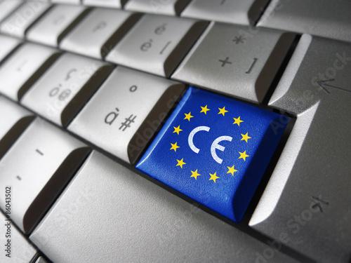 Fotografie, Obraz  European Union Flag CE Marking
