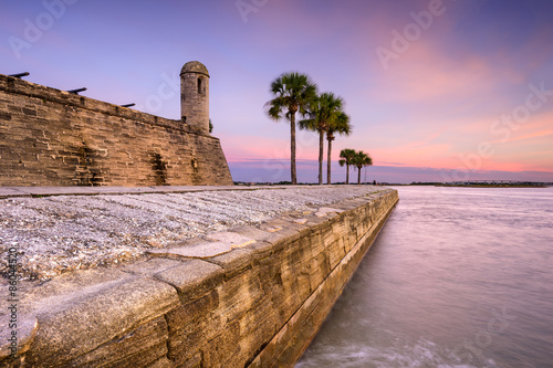 Poster de jardin Fortification Fort in St. Augustine, Florida