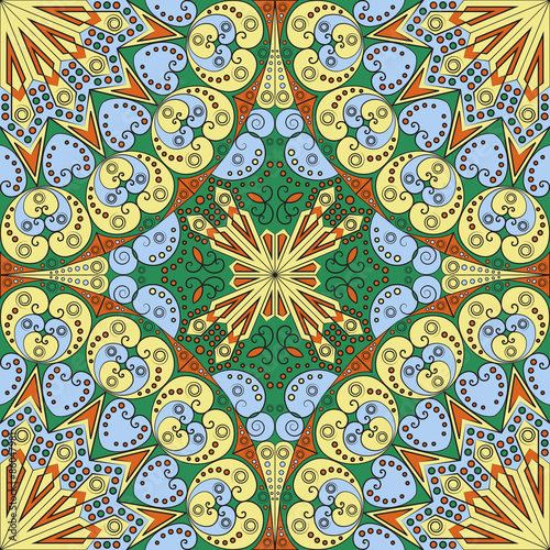 Deurstickers Marokkaanse Tegels Abstract patterned background