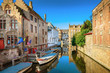 canvas print picture - Bruges Canal