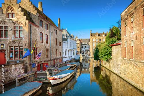 Deurstickers Brugge Bruges Canal