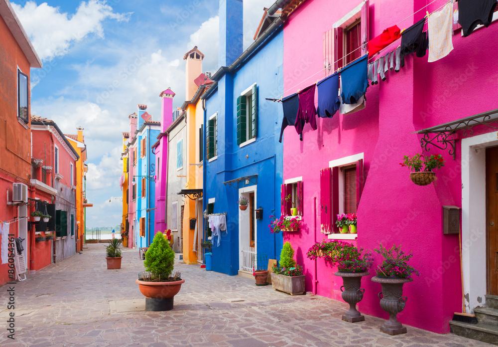 Fototapety, obrazy: Wyspa Burano, Wenecja, Włochy