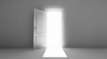 Porta Aperta Con Fascio Di Luce