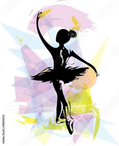 Photo  Ballet Dancer illustration