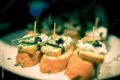 Caviar tapas Barca
