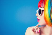 Beautiful Woman Wearing Colorf...