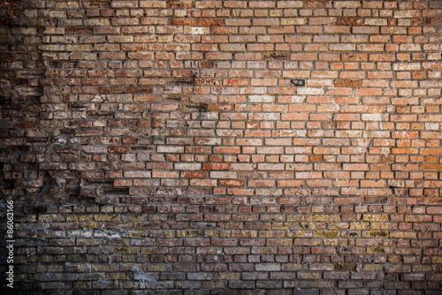 red brick wall background - 86062166