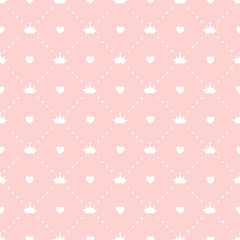 Fototapeta Do pokoju dziecka Princess Seamless Pattern Background Vector Illustration