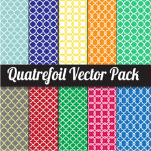 Quatrefoil Vector Pack - Different Quatrefoil Patterns, Easy To Change The Background Colour.