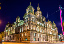 Glasgow City Chambers At Night...