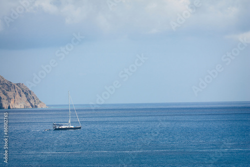 Staande foto Zeilen yacht in the sea