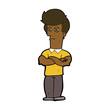 cartoon man with folded arms