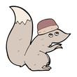 cartoon squirrel wearing hat