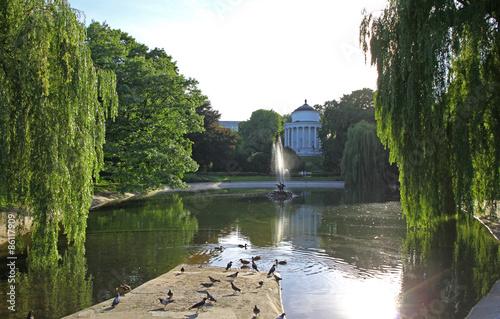 Foto op Plexiglas Cyprus Saxon Garden - public park in the city center of Warsaw, Poland