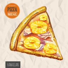 A Slice Of Hawaiian Pizza