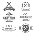 Set of logo, label, badge and logotype elements for sawmill