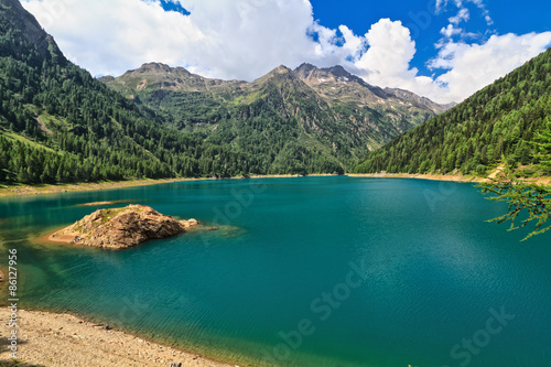 Printed kitchen splashbacks Khaki Pian Palu lake in Pejo valley - Trentino, Italy