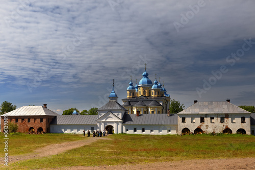 Fotografie, Obraz  Konevsky Monastery on the island Konevets, Ladoga Lake, Russia