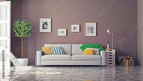 Fotografie, Obraz  flooding. 3d concept