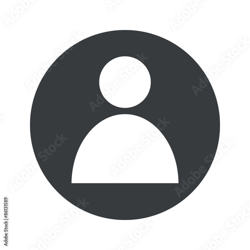 Obraz Monochrome round user icon - fototapety do salonu