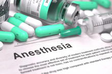 Anesthesia. Medical Concept Wi...