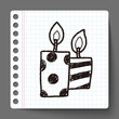 doodle candle
