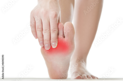 Photo  Pain in the female foot