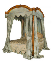 Four Poster Bed With Isolated ...