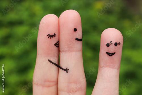 Fingerkunst eines Paares Fototapete