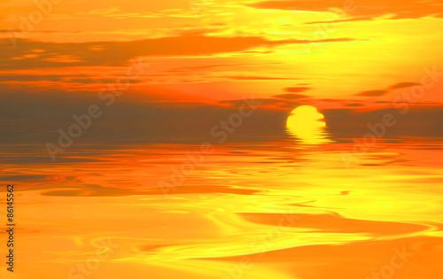 Cadres-photo bureau Orange eclat Beautiful landscape
