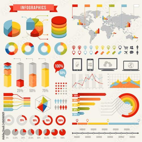 Fotografía  Vector Infographics Template