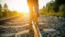 Walking On Railway