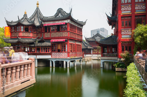 Spoed Foto op Canvas Shanghai The City God Temple or Chenghuang Miao area. Shanghai