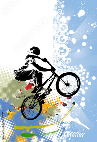 Fototapeta sportowy rower na kolorowym tle